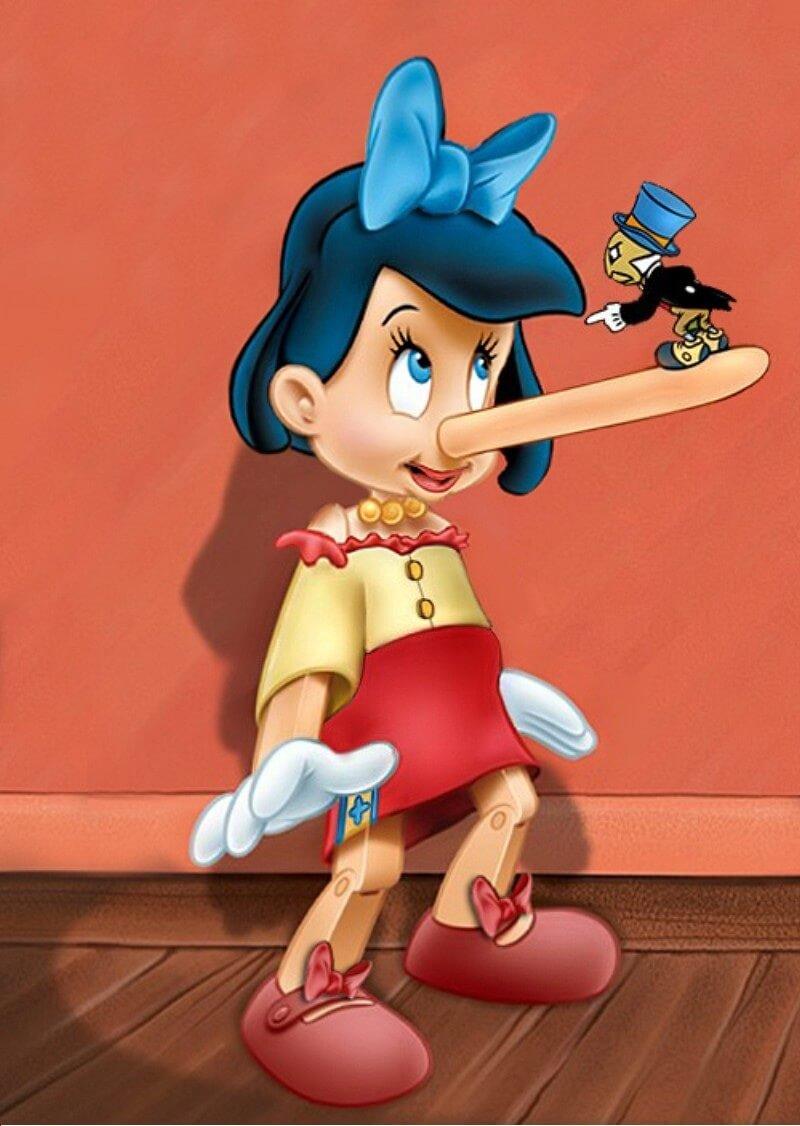 Pinocchio as a liar