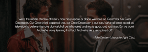 fight club quote about purpose