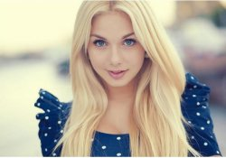 Blonde Russian woman