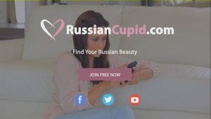 Girl chatting on Russian cupid