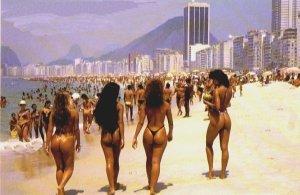 Girls at the beach in Brazil