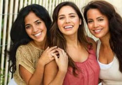 Three Mexican Women Smiling