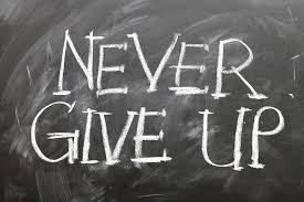 """never give up"" quote"