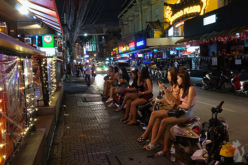Bangkok Prostitutes Waiting For Customers