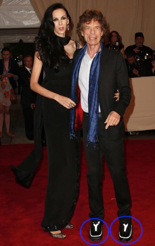 Mick Jagger wearing shoe lifts