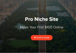 Screenshot of the Pro Niche Site course itself