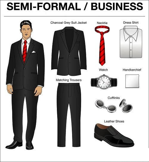 Semi Formal Business Style clothing for men