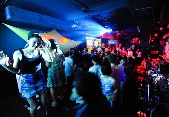 Crowd dancing at Dada club in Shanghai