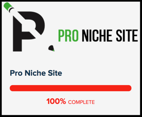 Pro Niche Site Course Completed