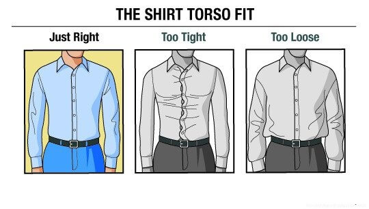 how to choose the right size for the shirt torso