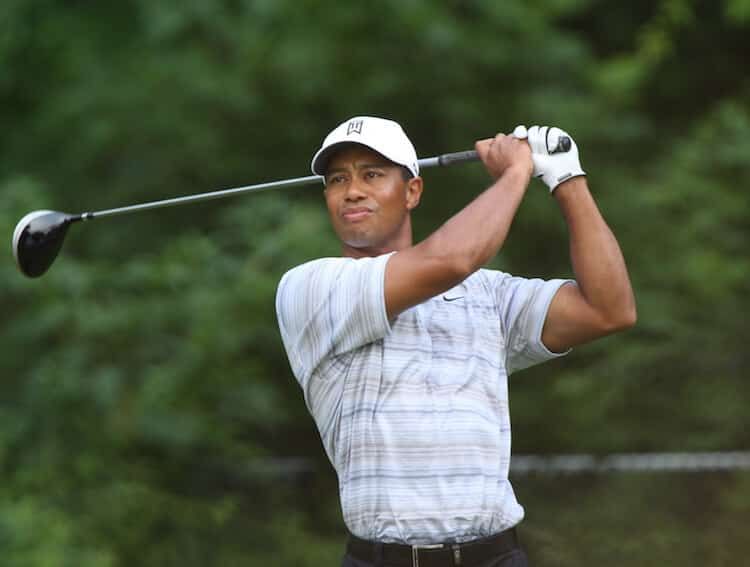 Tiger Woods picture only upper body