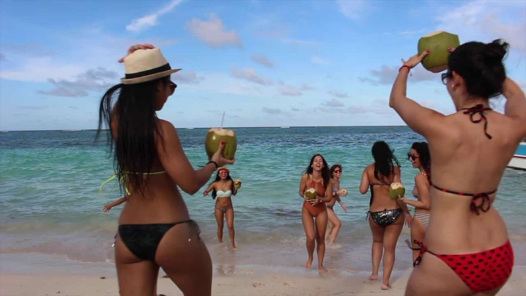 Few Girls At the beach in Punta Cana