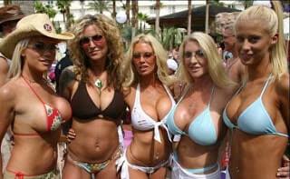 Five Blonde Girls On Ibiza